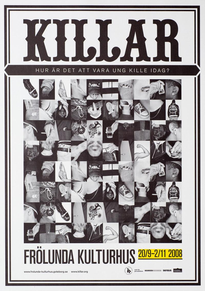 Affisch för utställningen Killar
